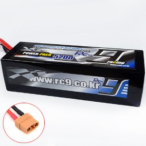 하비몬14.8V 5200mAh 60-120C 4S Hard Case Lipo Battery (XT90잭) - Slim Type[상품코드]RC9