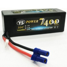 하비몬[#YS7400-55C-4S-EC5] 14.8V 7400mAh 55C~120C Hard Case Lipo Battery (EC5잭)[상품코드]YS POWER